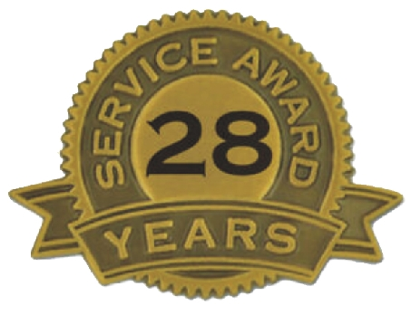 28 Years of Service